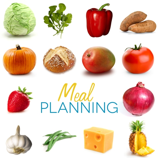 Meal Planning with colored title